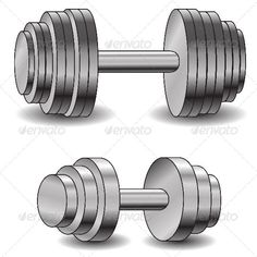 Two Dumbbells #GraphicRiver illustration with dumbells for your design Created: 1May13 GraphicsFilesIncluded: VectorEPS Layered: Yes MinimumAdobeCSVersion: CS Tags: bar #barbell #biceps #bodybuilding #chrome #concept #dumbbell #exercise #gym #health #healthy #heavy #icon #illustration #isolated #lift #mass #muscle #object #plate #power #pressure #reflection #shiny #sign #steel #strength #training #weight #weightlifting