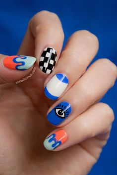 Kenzo Nail Art. click for how to. #kenzo #nails