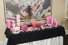Our cute wedding candy bar!  Guests love it :)
