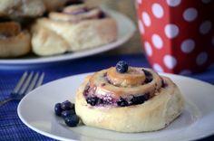 Blueberry Almond Cream Sweet Rolls