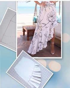 Simplicity 8606 Misses' Wrap Skirt in Four Lengths asymmetric Sewing Blogs, Sewing Hacks, Sewing Projects, Sewing Tips, Techniques Couture, Sewing Techniques, Skirt Patterns Sewing, Clothing Patterns, Skirt Sewing