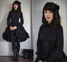 "Gothic Inspiration Thread - ""/cgl/ - Cosplay & EGL"" is imageboard for the discussion of cosplay, elegant gothic lolita (EGL), and anime conventions. Goth Subculture, Lolita Cosplay, Gothic Lolita Fashion, Punk, Japanese Street Fashion, Mori Girl, Feminine Style, Dress Up, Style Inspiration"