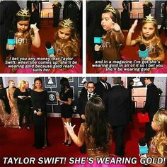 I told Sophia Grace she wouldn't wear gold, but of course she did! I absolutely do NOT like being incorrect!