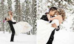 "Taylor & Ethan ""Trash the Dress"" photo shoot Mt. Bachelor Central Oregon | Central Oregon Wedding Photographer » Kimberly Kay Photography | Oregon Wedding Photographer"