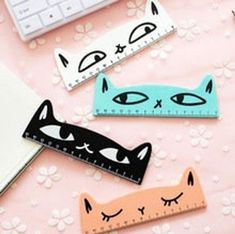 Kawaii Cat Ruler, Wooden, Stationary Writing School Supplies, Kitty Eyes - Kawaii Cat Ruler Wooden Stationary Writing School by mopapo The Effective Pictures We Offer Yo - School Stationery, Kawaii Stationery, Cute School Supplies, Office And School Supplies, School Office, School Kids, Wooden Ruler, Cute Stationary, Kawaii Cat
