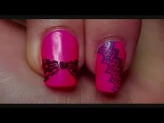 Pinned by www.SimpleNailArtTips.com STAMPING NAIL ART DESIGN IDEAS - Ophilie from Nail Art by Tartofraises has this quick video to show how she does stamping. Notice exactly how long it takes her to pick up the lacquer and transfer it to the nail...Never more than 5 seconds. This is key.     There's a lot of debate about whether to roll the stamper onto the plate as she does...most suggest a quick down and up pounce to pick up the lacquer.