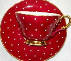 red white polka dot tea cup - Google Search