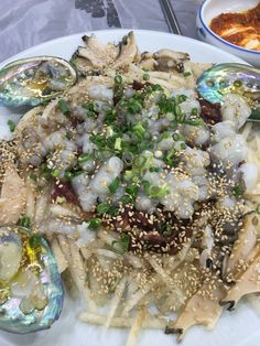 Fresh beef, small octopus, abalone combination with sliced sweet peer