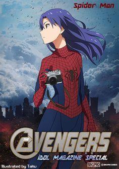 Idolmaster x Avengers, Chihaya, by たく(taku)