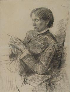 Henri de Toulouse-Lautrec - Portrait of Madame la Comtesse Adele de Toulouse Lautrec