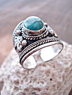 Boho Ring Boho Jewelry Turquoise Ring Yoga by HandcraftedYoga