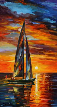 SAILING WITH THE SUN - LEONID AFREMOV by ~Leonidafremov on deviantART