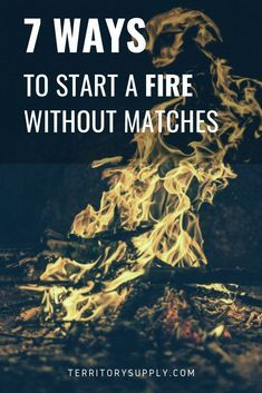 If you ever end up out in the wild without matches or lighter, you darn well better know at least one way to start a fire. Heres 7 ways to start a fire without matches.