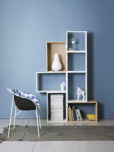Med LADY 5159 Retroblå får rommet et friskt utseende. Interior Wall Colors, Interior Walls, Blue Rooms, Blue Walls, Inspiration Wall, Interior Inspiration, Jotun Lady, Decoracion Low Cost, Blue Wall Colors