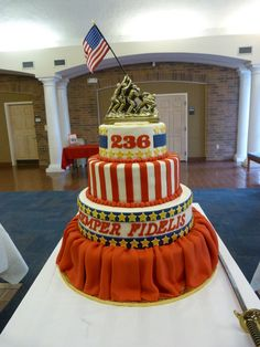 Enjoyable 10 Best Marine Corps Cake Images Marine Corps Cake Marine Cake Birthday Cards Printable Trancafe Filternl