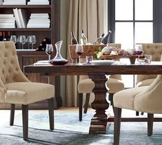 Home_ Banks Extending Dining Table, Gray Wash Kiln Dried Wood, Modular Sofa, Grey Wash, High Quality Furniture, Extendable Dining Table, Dining Chairs, Dining Furniture, Dining Rooms, Furniture Ideas