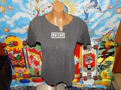 Totally trashed Nine Inch Nails distressed 90s tee in my shop now! Totaly grunge!  vintageassault.etsy.com