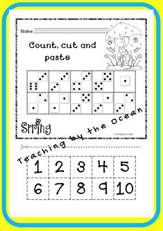 Spring Math NO PREP (kindergarten) - Distance Learning Learning Resources, Fun Learning, Teacher Resources, Kindergarten Readiness, Teaching Kindergarten, Homework Folders, Types Of Education, Thing 1, Early Finishers