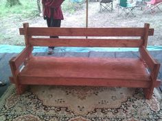 Viking style motise and tenon and tusk tenon couch. Also has the builder's design improvement notes.