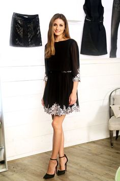 Olivia Palermo wearing Ted Baker Feay Dress