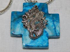 Handcrafted Large Dragon on Blue Agate by DeanasQuiltsandMore, $15.00