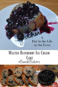 A Day in the Life on the Farm: Melted Blueberry Ice Cream Cake #BundtBakers Blueberry Ice Cream, Blueberry Compote, Blueberry Cheesecake, White Cake Mixes, Cream Cake, Cops, 3 Ingredients, Easy Desserts, Tasty