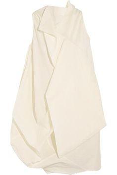 Rick Owens - Egret Open-back Layered Crepe Top - Off-white - IT48