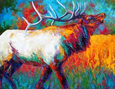 Marion Rose - Autumn's Chorus - Bull Elk - Artobolus.com | contemporary art | contemporary artists | artists community | art online
