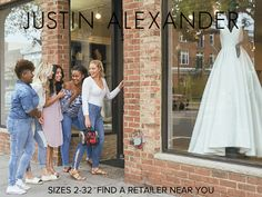 Sizes 2-32 - FInd A Retailer Near You! Justin Alexander Bridal, Plus Size Wedding, Wedding Dress Styles, Different Styles, Size 2, Silhouette, Gowns, Bride, Coat