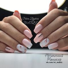 Light Pink Nail Designs Ideas 34 pink and white nails trends for spring and summer 2020 Light Pink Nail Designs. Here is Light Pink Nail Designs Ideas for you. Light Pink Nail Designs 32 super cool pink nail designs that every girl will l. Pink White Nails, Light Pink Nails, Pink Nail Art, Blush Pink Nails, White Manicure, Matte Pink, Black Nails, Classy Nail Designs, White Nail Designs