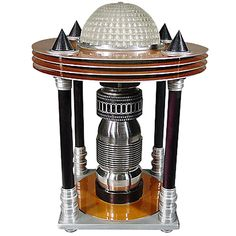 View this item and discover similar for sale at - In what can only be described as retro futurism, this stunning Art Deco Machine Age Table Lamp features a domed glass waffle shade surrounded by four copper Art Deco Furniture, Furniture Logo, Coaster Furniture, Design Furniture, Colorful Furniture, Vintage Furniture, Modern Furniture, Luxury Furniture, Victorian Furniture