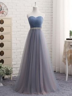 Cute sweetheart neck tulle prom dress, tulle bridesmaid dress, Customized service and Rush order are available A Line Prom Dresses, Cheap Prom Dresses, Wedding Party Dresses, Ball Dresses, Evening Dresses, Formal Dresses, Long Dresses, Formal Prom, Prom Dresses For Teens