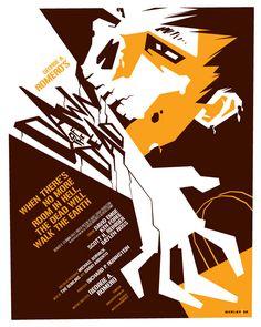 tom whalen : strongstuff illustration + design Dawn of the Dead poster