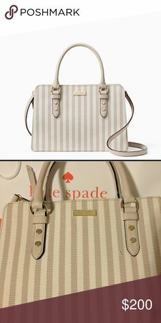 NWT!   Kate Spade Lise MUST HAVE!!!   Mulberry Street Fabric bag with dual leather handles, front and rear compartments with metal snap,like and middle zip central compartment kate spade Bags Shoulder Bags