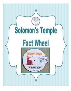 This fact wheel is a fun way to discuss Solomon's temple and what he used to build it. This download is in color, but you can go to the blog post below to download it in black & white. After cutting out the two parts, use a brad in the center of the circle to connect the parts.