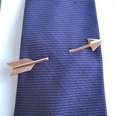 Large Gold Arrow Tie Bar, Tie Clip, Tie Clasp - Vintage Anson