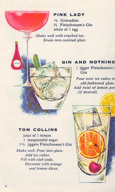 1960s versions of three absolutely southern classic cocktails