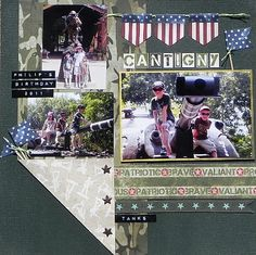 Make Toothpick Flags for Scrapbooking and Card Making: Military Scrapbook Page Idea Using Toothpick Flags