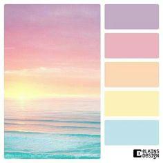 Color Palette Paint Inspiration Paint Colors Paint Palette Color Design Ins. Pastel Color Scheme, Colour Pallette, Colour Schemes, Pastel Colors, Color Combos, Pastel Palette, Lip Colors, Sunset Palette, Pastel Blue