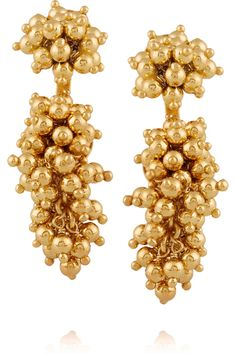 PAULA MENDOZA two grapes two mulberries gold-plated earrings