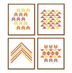 Modern Cross Stitch Patterns geometric cross stitch set of 4 Geometrical Wall…
