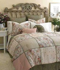 Cottage ♥ Bedroom, Laura Ashley Victoria Inn Comforter Set Love the quilt Elegant Comforter Sets, Queen Comforter Sets, Bedding Sets, King Comforter, Bedroom Sets, Home Bedroom, Master Bedroom, Bedroom Decor, Shabby Chic Bedrooms