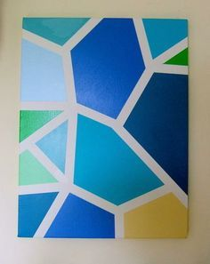 geometric paintings canvas - Google Search