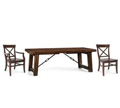 Benchwright Extending Table & Aaron Chair Dining Set | Pottery Barn