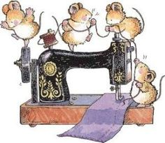 When I leave to you my Mom's sewing Machine please do not dance on it . take very good care of it like she and I did . and go on utube for lots of advice on how too . Maus Illustration, Illustrations, Animal Drawings, Cute Drawings, Penny Black Karten, Quilting Quotes, Art Mignon, Sewing Quotes, Penny Black Stamps