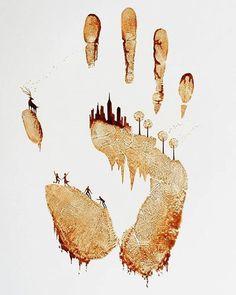 Super cool art with a subtle message
