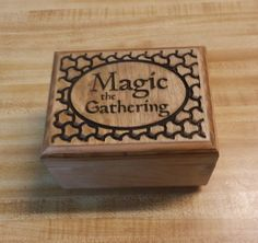 Deluxe Carved Wood Deck Box Case for Magic The by FoxAndDragon, $69.95