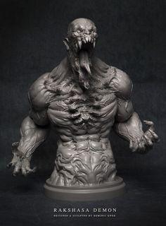 Fešák na pohľadanie / Rakshasa Demon 3D Print #3dprint #figure