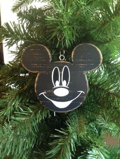 Mickey Mouse Disney Wood Christmas Ornament by CelebrateOrnaments, $16.50