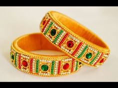 Silk Thread Bridal Bangles - YouTube